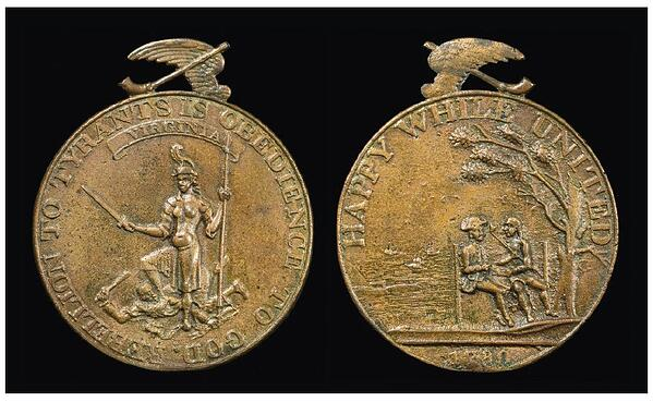 1780 indian peace medal