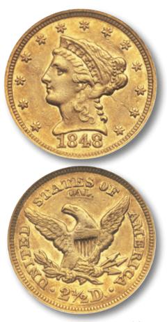 1848 quarter eagle
