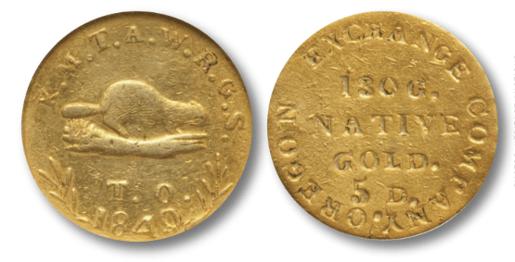 1849 oregon gold piece