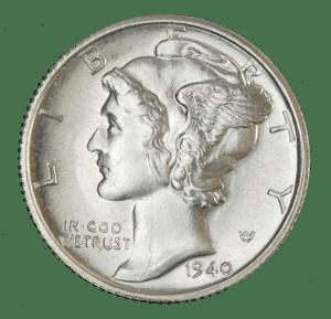 1940 mercury dime obverse