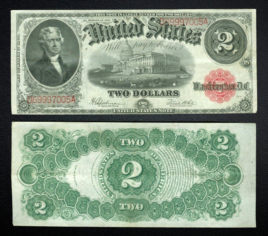 2 dollar united states note