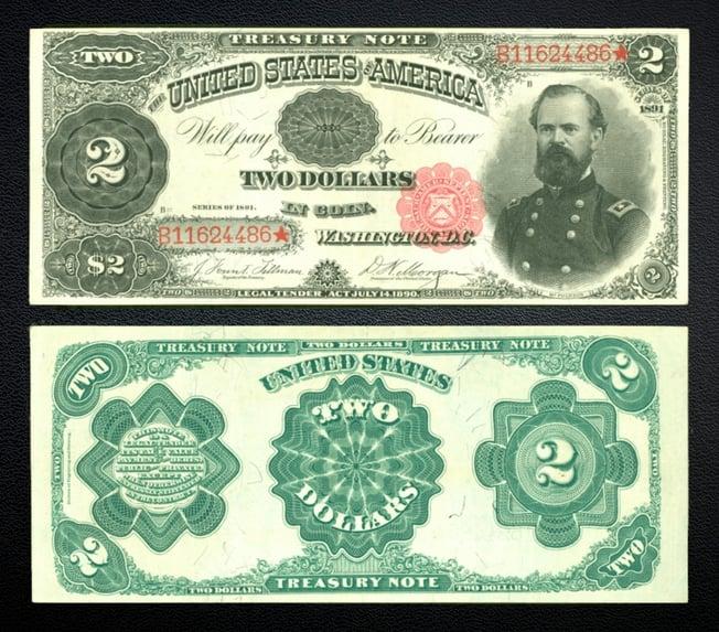 2 dollar us treasury note