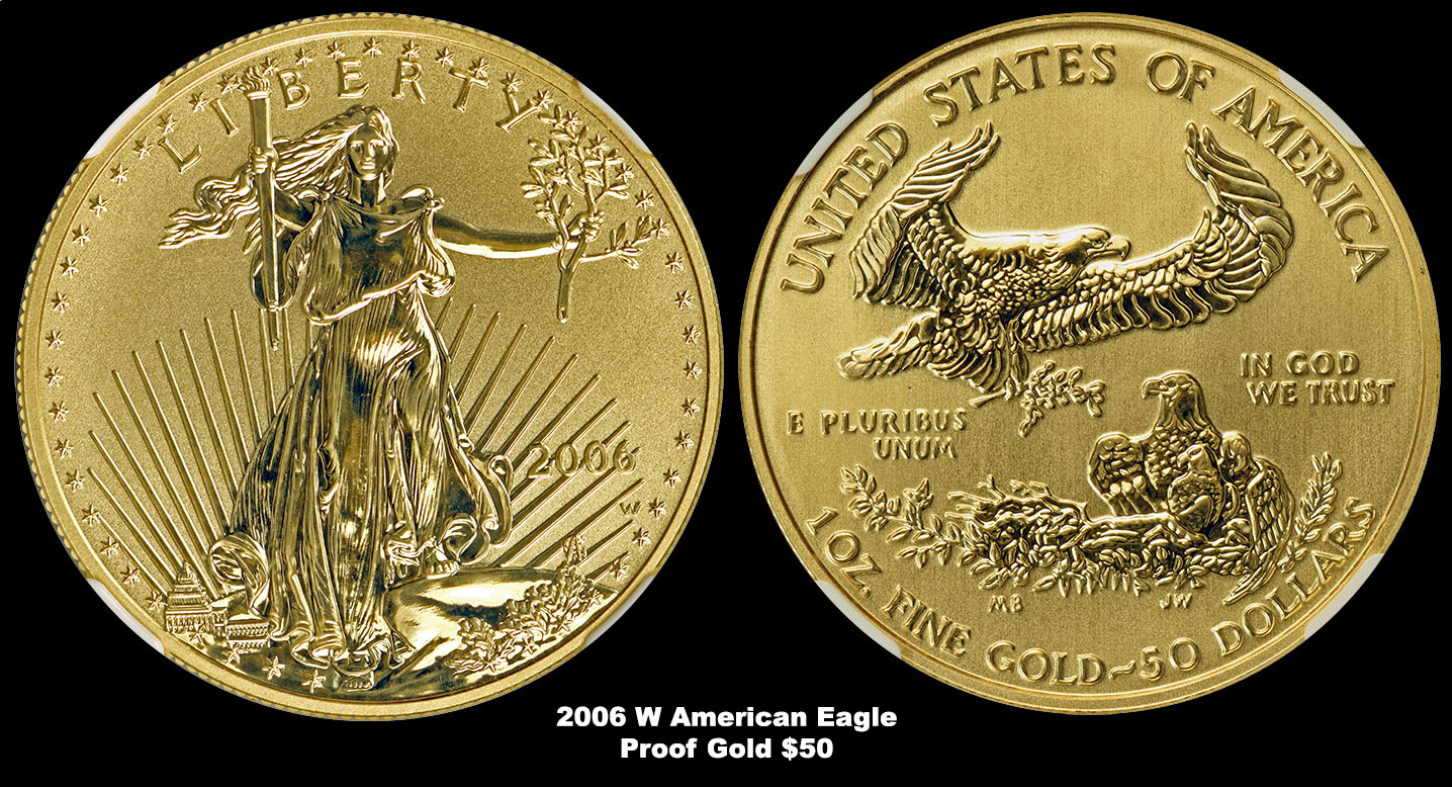 2006 w american eagle proof gold 50 dollars