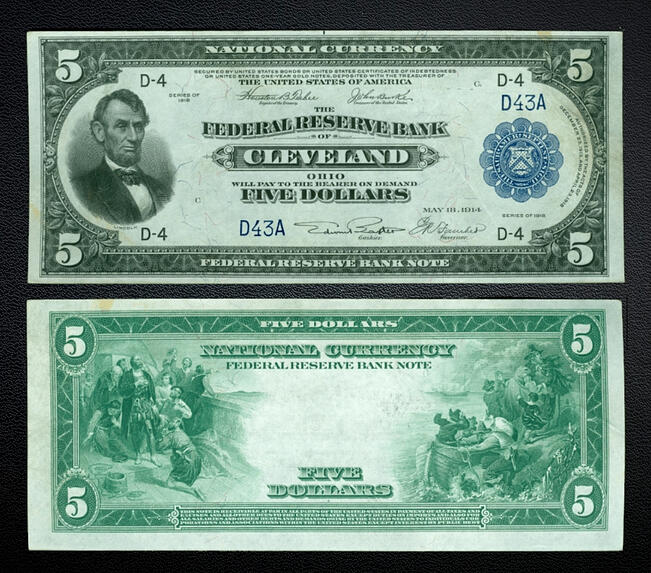 5 dollar federal reserve note