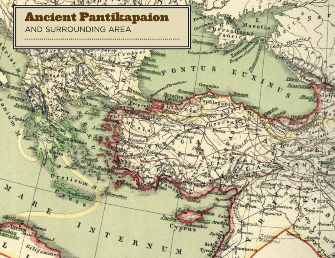 Ancient Pantikapaion Map