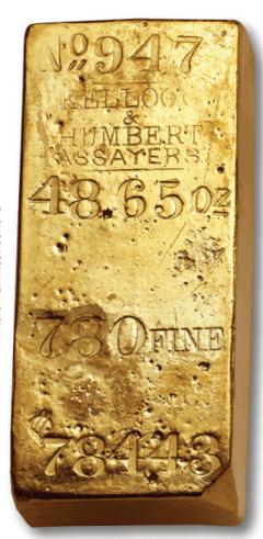 california assayer gold bar