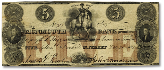 monmouth bank washington note