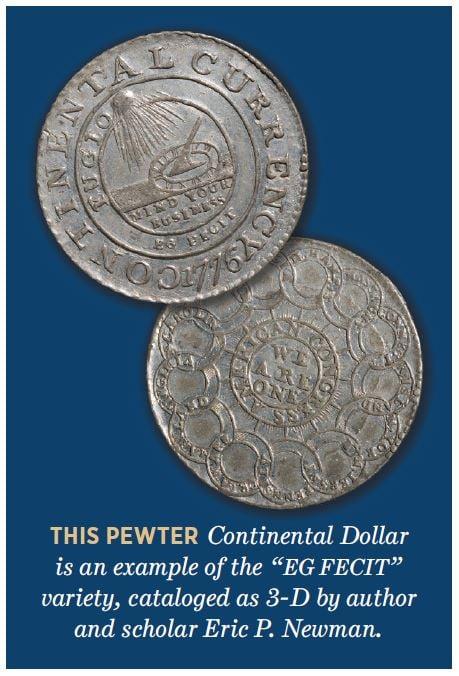 pewter continental dollar