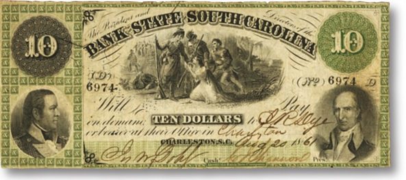 south carolina washington bank note