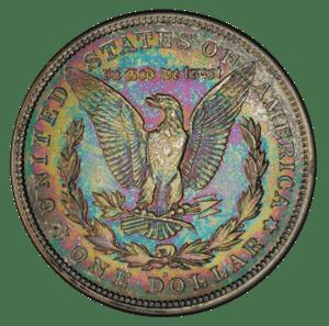 toned morgan dollar reverse