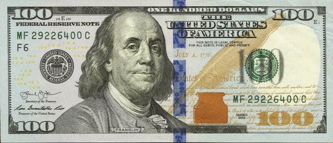 us banknote 100